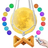 Moon Lamp, 3D Moon Light Lamps with Stand & Hanging Net - Night Lights for Kids & Adults - Remote & Touch Control Moon Light Ball, Decorative Lights Indoor (4.8'')