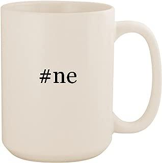 #ne - White Hashtag 15oz Ceramic Coffee Mug Cup