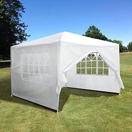 SunnyHome Outdoor Tent 10'x10 'Wedding Tent Gazebo Pavilion 4 Side Walls USA Outdoor Party Patio Waterproof Canopy Gazebo Tent