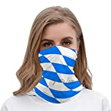 PotteLove Bavarian Flag Unisex Multifunctional Bandana Neck Gaiter Tube Headwear headkerchief, Motorcycle Face Bandana Headband for Women Men Face Scarf