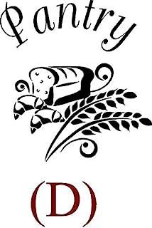 CreativeSignsnDesigns [Creative Signs N Designs, CreativeSignsNDesigns] Pantry Door Design Decals D Black