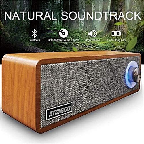 ZWMM Soundbar FüR Tv GeräTe,Soundbar Für TV 3D-Stereo-Soundeffekt-Lautsprecher Mit LED-Knopf Bluetooth 5.0 Holzlautsprecher Tragbar Mini-WLAN Für Home-Party Und Büro Geeignet Grau
