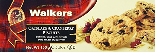 Walkers Oatflakes und Cranberry Biscuits, 1er Pack (1 x 150 g)