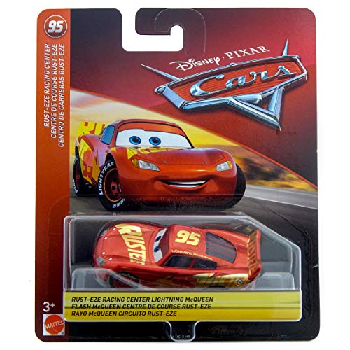 Disney/Pixar Cars Lightning McQueen Rust-Eze Racing Center Series 1:55 Scale Collectible Die Cast Model Car