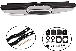 G-PLUS for Toyota Tacoma 1995-2004 Chrome Steel Rear Step Bumper with Brackets Assembly Light Kit Bolts Bar Replacement TO1102215