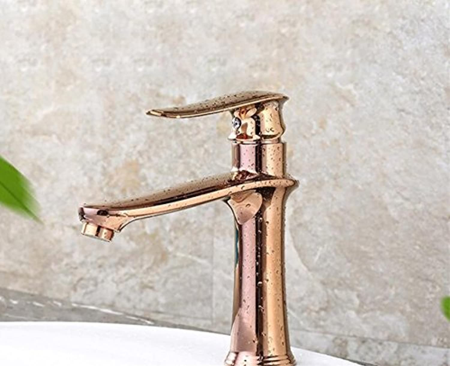 Mkkwp Bathroom Faucet Deck Mounted Brass Vanity Sink Mixer Tap Hot & Cold The Basin Faucet