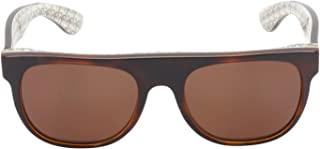 Retrosuperfuture Flat Top Brown/Brown Lens Sunglasses