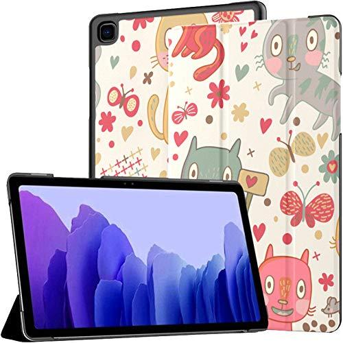 Funda protectora para Samsung Galaxy Tab A7 de 10,4 pulgadas, diseño de gatos