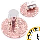 Brudazon   10 Mini Scheiben-Magnete 8x1mm   N52 stärkste Stufe - Neodym-Magnete ultrastark   Power-Magnet für Modellbau, Foto, Whiteboard, Pinnwand, Kühlschrank, Basteln   Magnetscheibe extra stark