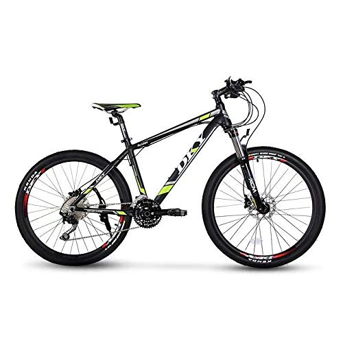 26' Aluminium Mountain Bike Shimano 30 Speed SR SUNTOUR Suspension Fork Shimano Hydraulic Disc Brake (Black Green, 17')