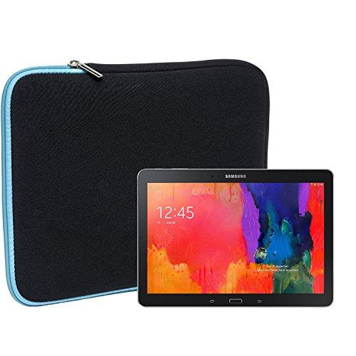 Slabo Tablet Tasche Schutzhülle für Samsung Galaxy TabPRO 10.1 SM-T520 Hülle Etui Hülle Phablet aus Neopren – TÜRKIS/SCHWARZ