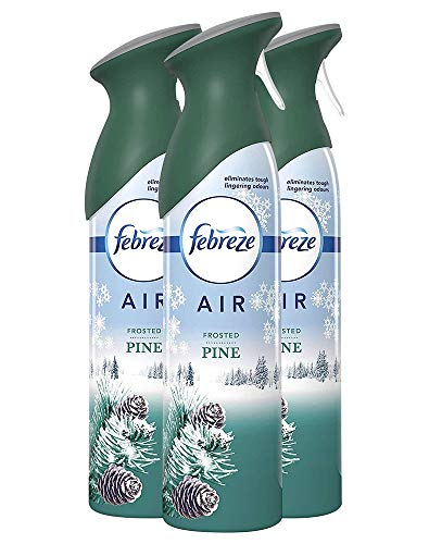 Febreze Air Mist Air Freshener Spray, Winter Collection Limited Edition, Frosted Pine Scent, 10.1 oz. (Pack of 3)