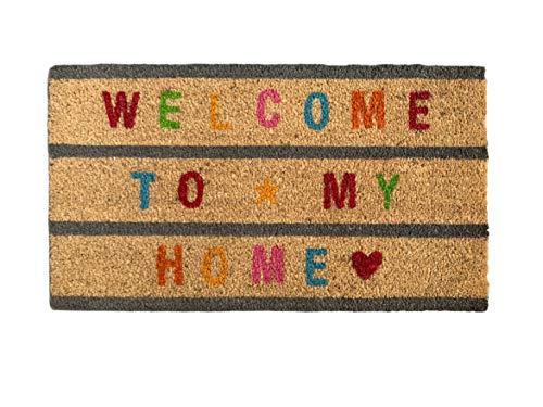 TIENDA EURASIA Felpudo Entrada Casa Welcome to My Home Multicolor 40x70