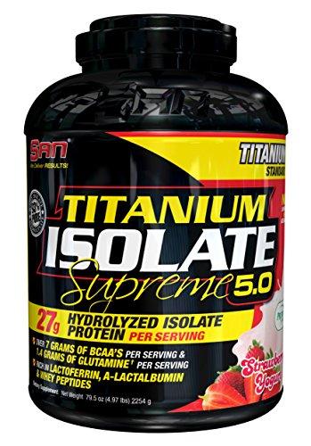 San Titanium Isolate Supreme 5.0 (5lbs) Strawberry Yogurt, 2280 g
