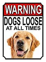 警告犬はいつでもルーズティンサイン装飾ヴィンテージ壁金属プラークカフェバー映画ギフト結婚式の誕生日の警告のためのレトロな鉄の絵