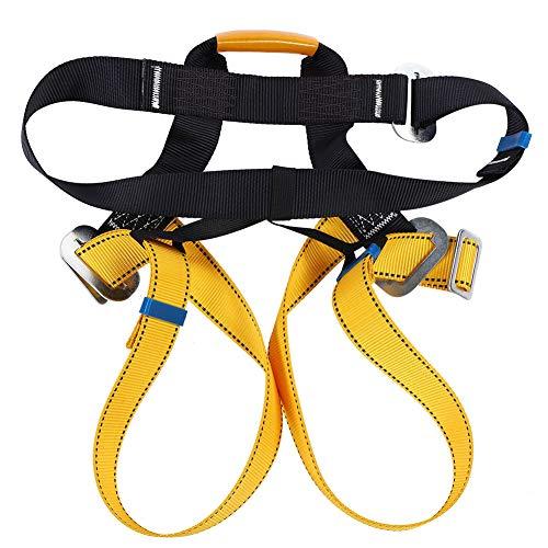 Outdoor Climbing Harness, Belt Strap for Rock Climbing Mountaineering Caving for Rope Mountaineering Roofing Roof Tree Work Equipment Half Body Protection Belt Women Man