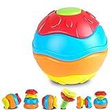 Divertido juguete para bebés y niños para gatear, minibola, deformación, puzle de juguete creativo montado