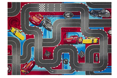 Disney Cars Queen Mc Lightning Tapis de jeu pour enfant avec strass 95 x 133 cm