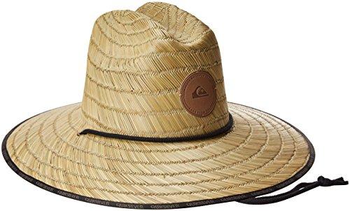 Quiksilver Men's Dredge Waterman Straw Sun Hat, Natural, S/M
