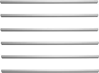 ADVANTUS Grip-A-Strip Display Rail, Regular Size, 4 Feet Long, Satin Finish Aluminum (2010) - Sold As 6 Pack, 6 Count Total