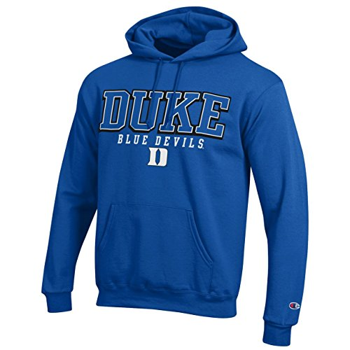 Duke Blue Devils Adult Arch Logo Classic Hoody - Royal, Medium Blue Classic Logo Hoody Sweatshirt