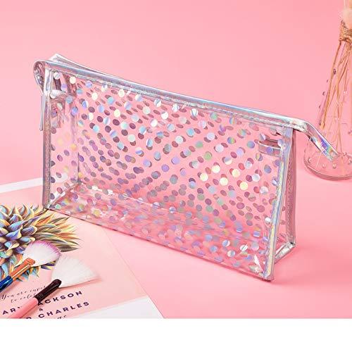 Fashion PVC Design Women Cosmetic Bag Laser Makeup Case Transparent Beauty Organizer Pouch Female Jelly Bag Clear Pouch 6006-1