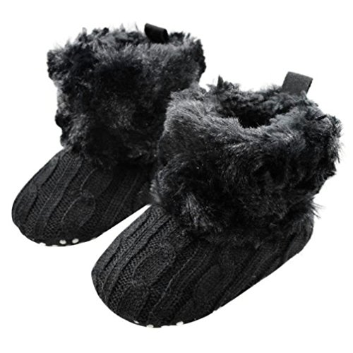 Gotd Baby Toddler Infant Girls Snow Boots Soft Sole Prewalker Crib Shoes (0~6 Month Length:4.3