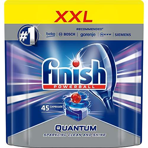 Finish Quantum Max 45pezzo(i) Dishwasher detergent + rinse aid + salt Compressa
