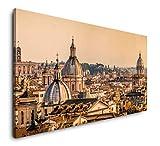 Paul Sinus Art Skyline von Rom 120x 60cm Panorama Leinwand