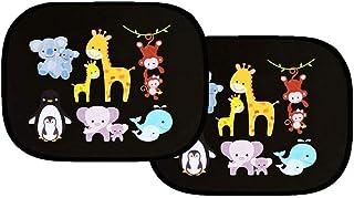 MixColours Car Sun Shade 2 Pack Car Window Shades for Kids Baby Pet UV Rays/Sunlight Protection Car Sunshades Shield Visor...