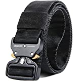 KingMoore Men's Tactical Belt Heavy Duty Webbing Belt Adjustable Military Style Nylon Belts