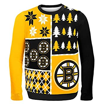 Boston Bruins Busy Block Ugly Sweater Large
