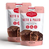 Miss Jones Baking Keto Chocolate Muffin & Cupcake Mix - Gluten Free, Low Carb, No Sugar Added, Naturally Sweetened Desserts & Treats - Diabetic, Atkins, WW, and Paleo Friendly, Pack of 2