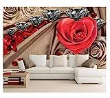 Fleurs Diamondhome Décoration Fond d'écran 3D Murale Hd Affichage Chambre Salon...