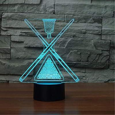 ganjue 3D Night Light USB Billar dormitorio decoración Baby Sleep ...