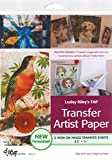 Lesley Riley's TAP Transfer Artist Paper 5-Sheet Pack: 5 Iron-on Image Transfer Sheets 8.5 x 11