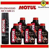 Motul 710 2T olio motore moto 2 tempi litri 5 + OMAGGIO MC Care C1...