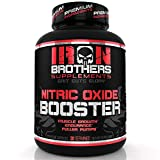 Nitric Oxide Booster | Extra Strength No2 Supplements | Pre-Workout with Fermented L-Arginine | Maximum Blood Flow & Vascularity | Increase Muscle Pumps, Energy & Endurance - 120 Veggie Capsules