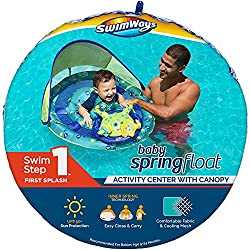 SwimWays Baby Spring Float Activity Center with Canopy, Best Baby Pool Floats, Pool safety, kids safety, children's safety, swimming safety, buoyancy aids, swim aids, flotation devices