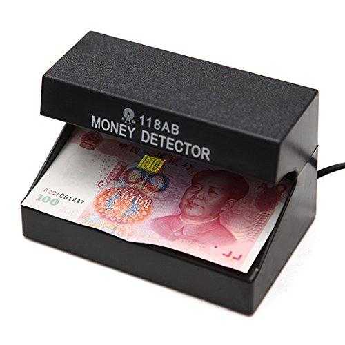HELEISH AD-118AB 110-220V Falschgeldprüfgerät Checker Prüfmaschine mit UV-Blau-Lampe for Shop-Kassierer EU-Stecker Hilfsmittel