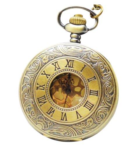 Infinite U Clásicas Palabras Romanas Doradas Unisex Reloj de bolsillo