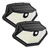 FENGTUOW Solar Lights Outdoor, 134 LED Flood Light, IP65 Waterproof Solar Motion Sensor Light, Wireless Solar Security Lights with 270° Wide Angle Outdoor Wall Lights for Front Door Yard Garden(2Pack)