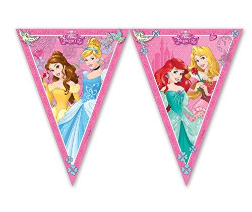 Procos 85013 - Guirnalda de banderines de princesas Disney Dreaming (2,3 m), rosa