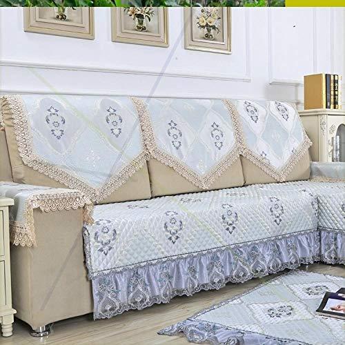 Qianqingkun Einfacher Bezug, Einzelbett-Stirnband, Elegante, Neue, lässige Spitze, Kissen-Gray-YZ_/ 90 * 90 GQG