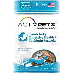 Loving Pets Activpetz Lamb Jerky Digestive Health + Probiotic Formula Dog Treat, 7 Oz
