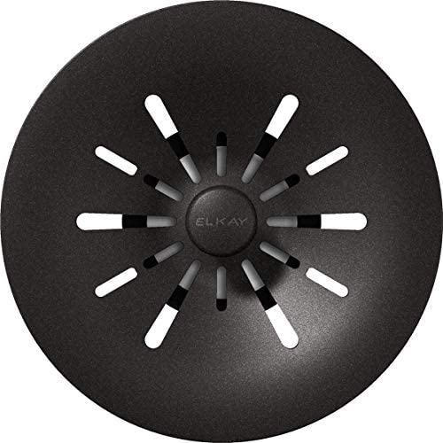 Elkay Quartz Perfect Drain 3 1 2 Removable Polymer Basket Strainer and Rubber Stopper Black product image