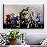 Leinwand Poster Bilder,Avengers Film Hulk Superhelden in