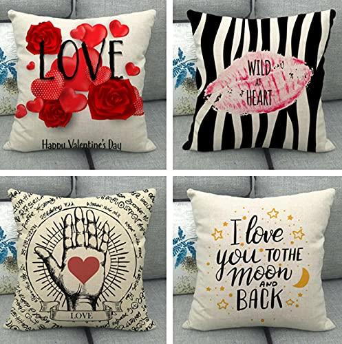 GjbCDWGLA Vintage Rose Pattern Throw Pillow Covers 18 X 18 Pulgadas Cremallera Invisible Funda De Cojín Cuadrado Sofá Coche Dormitorio Decoración para El Hogar Juego De 4