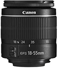 Canon EF-S 18-55mm f/3.5-5.6 III Camera Lens (New in White Box) International Model (No Warranty)