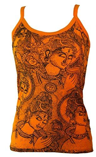 Guru-Shop, Top Yoga Shiva, Arancione, Dicotone, Dimensione Indumenti:S / M (36), Top, T-shirt, Camicie